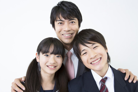 junior: Teachers and junior high school students Stock Photo