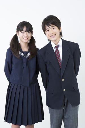 Lächeln der Junior High School Schüler