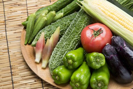 fill up: Assorted summer vegetables Stock Photo
