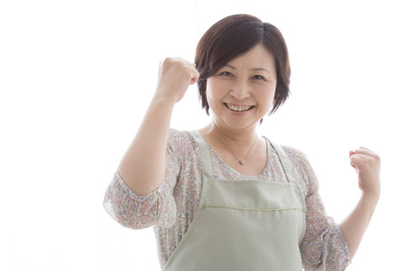 fist pump: Housewife to the guts pose