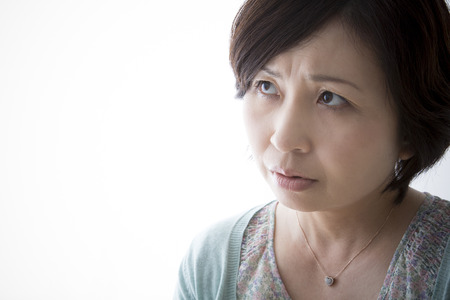 Middle women anxious about something