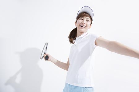 Women to play tennis. Stock Photo