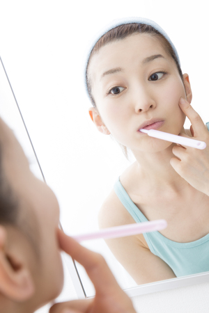 check ups: Woman that the check of your skin