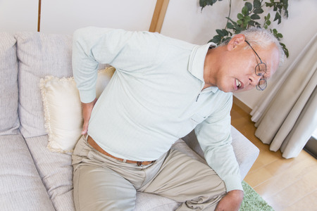 low back: Senior men who suffer from low back pain