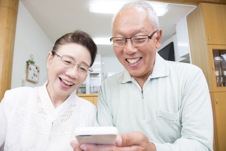granny and grandad: Senior couple to work with Smartphones