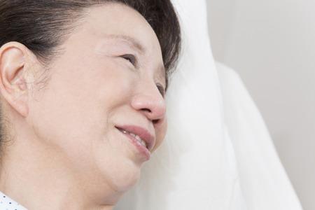 cried: Senior women shed tears