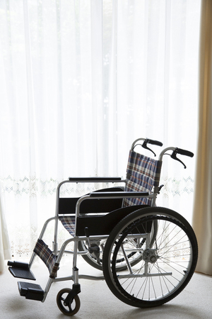 hospitalization: Wheelchair Stock Photo