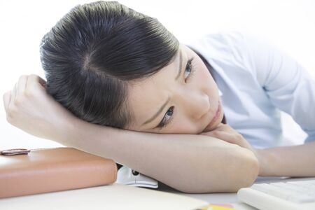 tiring: OL tiring to desk work Stock Photo