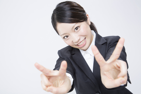 job hunting: Job hunting woman to Peace Stock Photo