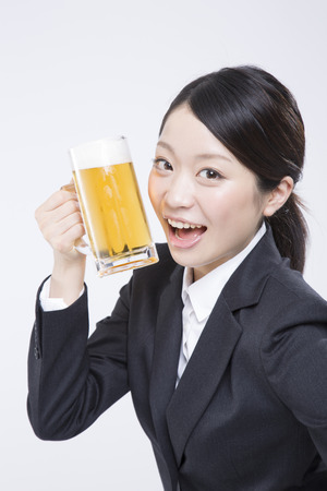 New employees with a beer mug