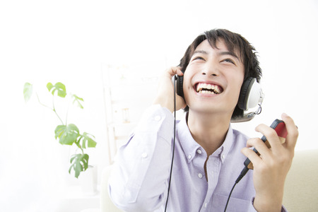 loosen up: Men who listen to music in the living room
