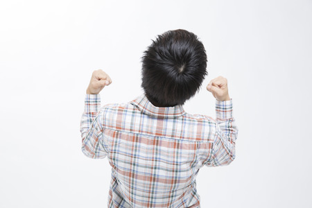 wnętrzności: Back figure of men who the guts pose