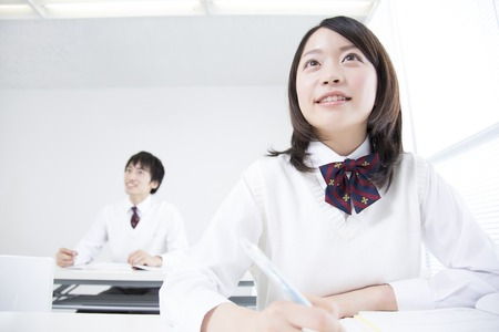 To high school students Stock Photo