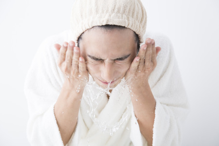 Man to cleansing Stock Photo