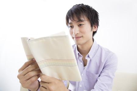loosen up: Man to reading