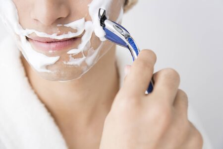 shave: Men to shave Stock Photo
