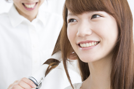 asian style: Women to have headset