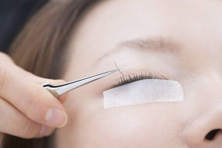 extension: Women in Eyelash extension