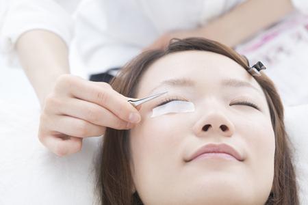 Women in Eyelash extension