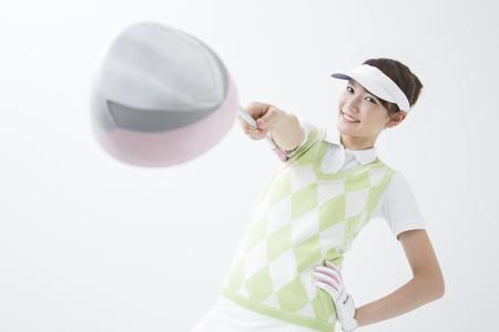 teen golf: Estilo del golf de la Mujer