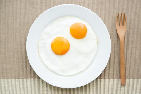 tableware life: Fried egg Stock Photo