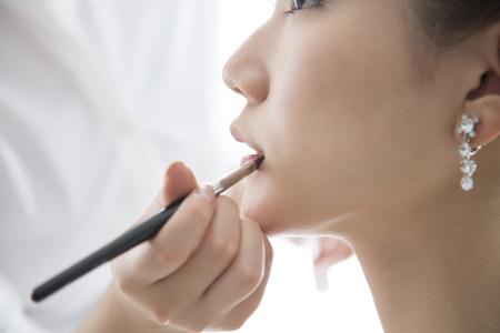 Nevěsta dostat make-up