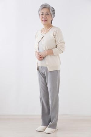Senior vrouw lachend