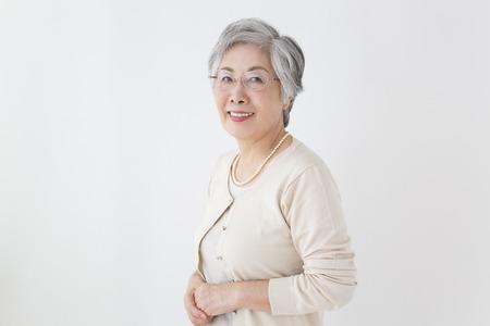 sixty: Senior woman smiling