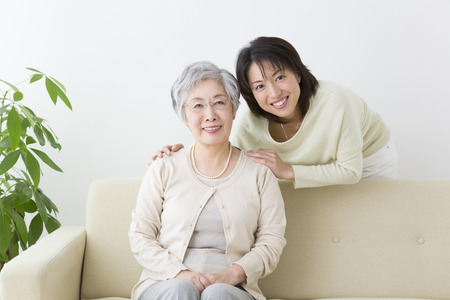 Smiling mother and daughter 写真素材
