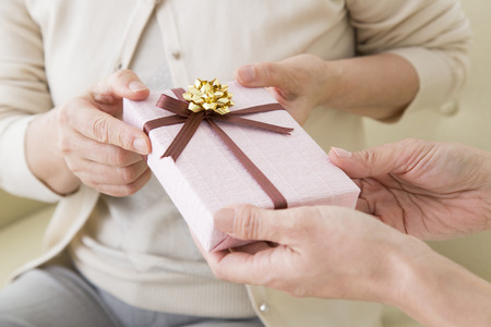 Mother get a gift from daughter