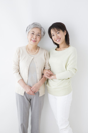 step daughter: Smiling mother and daughter Stock Photo