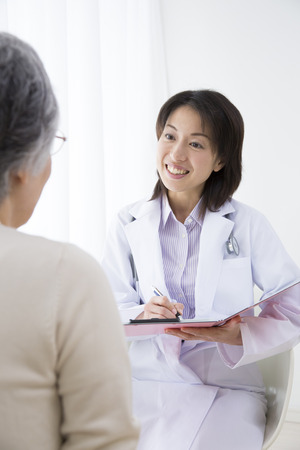 Joy examine the senior women