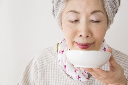 수석 여성은 맛 스톡 콘텐츠