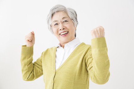 Full of senior women Genki Stock Photo