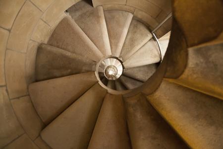 螺旋階段のサグラダ ・ ファミリア 写真素材