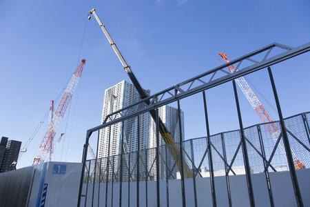 晴海の工事現場