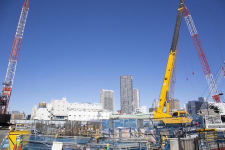 Construction site in Harumi 스톡 콘텐츠