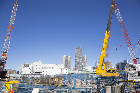 Construction site in Harumi 版權商用圖片