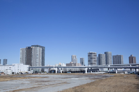 vacant land: Vacant land and skyscrapers