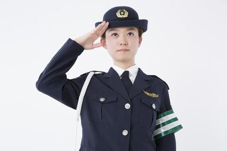 Vrouwelijke politieagenten naar de Salute