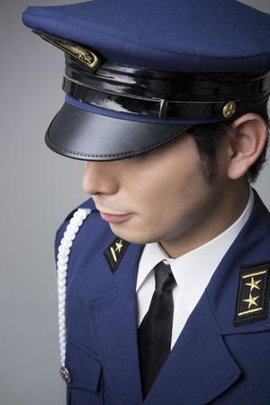 fake: Police officers fake Stock Photo