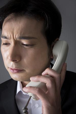 con man: A telephone man Stock Photo