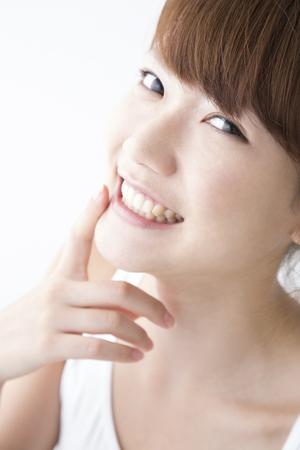 Smiling woman 版權商用圖片 - 46251069