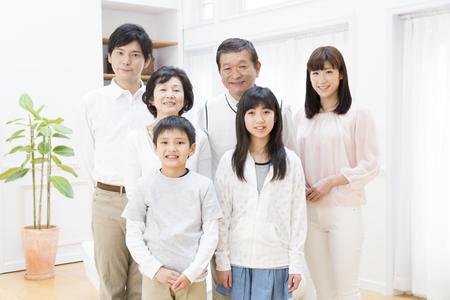 Three generation family of smile