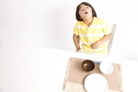 ate: Children who ate a full of rice bowl