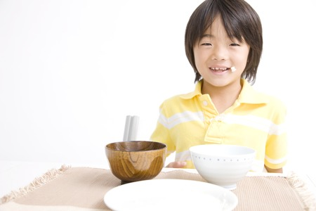 ate: Children who ate a stomach full of rice