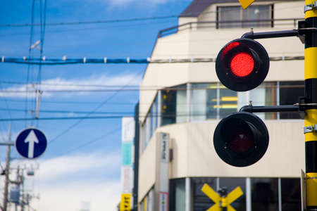 railroad crossing: Railroad crossing Stock Photo
