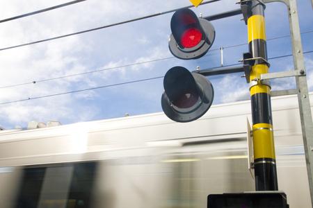 railroad crossing: Railroad crossing Stock Photo