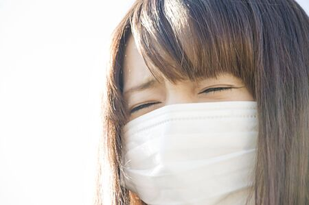 agonizing: Female mask Stock Photo