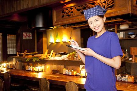 clerks: Tavern clerks take orders Stock Photo